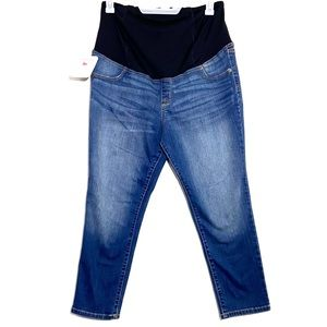 NWT Skinny Crop Belly Banded Maternity Jeans